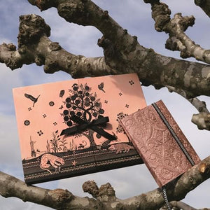 A5 Sunset Copper Embossed Notebook By Christian Lacroix