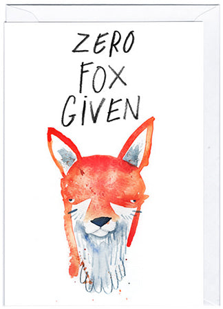 Sassy Fox Greeting Card