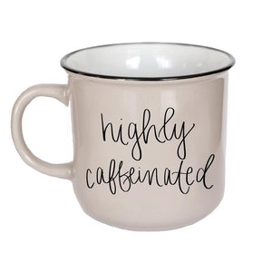 Caffeinated Coffee Mug (Stoneware)
