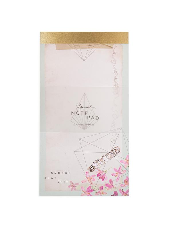 Geometric Floral Notepad
