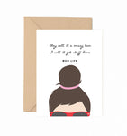 Messy Bun Mom Life Greeting Card