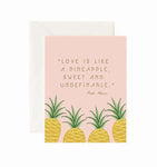 Love is Like a Pineapple Greeting Card