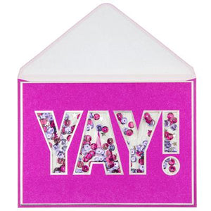 YAY Greeting Card ( Handmade)
