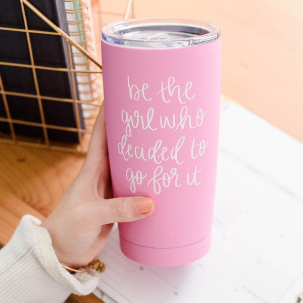 The Girl Metal Travel Mug