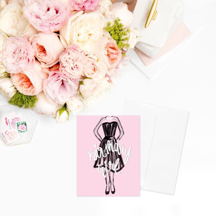 Chic Birthday Girl Greeting Card