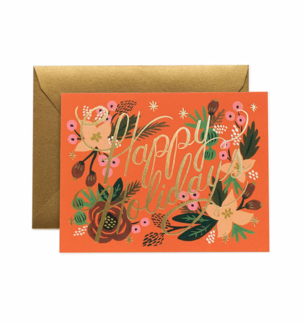 Poinsettia Holiday Greeting Card