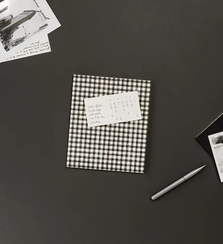 Black Gingham A5 Notebook