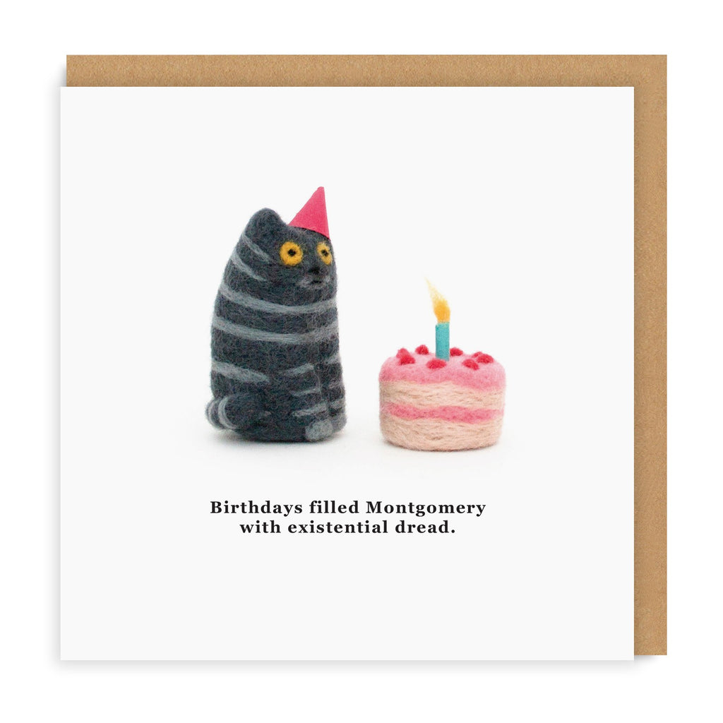 Cat Birthday Excitement Greeting Card