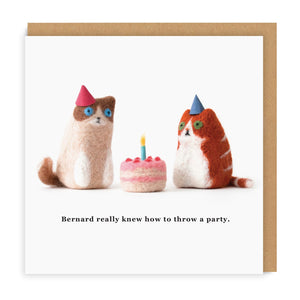 Cats Know How To Party Greeting Card