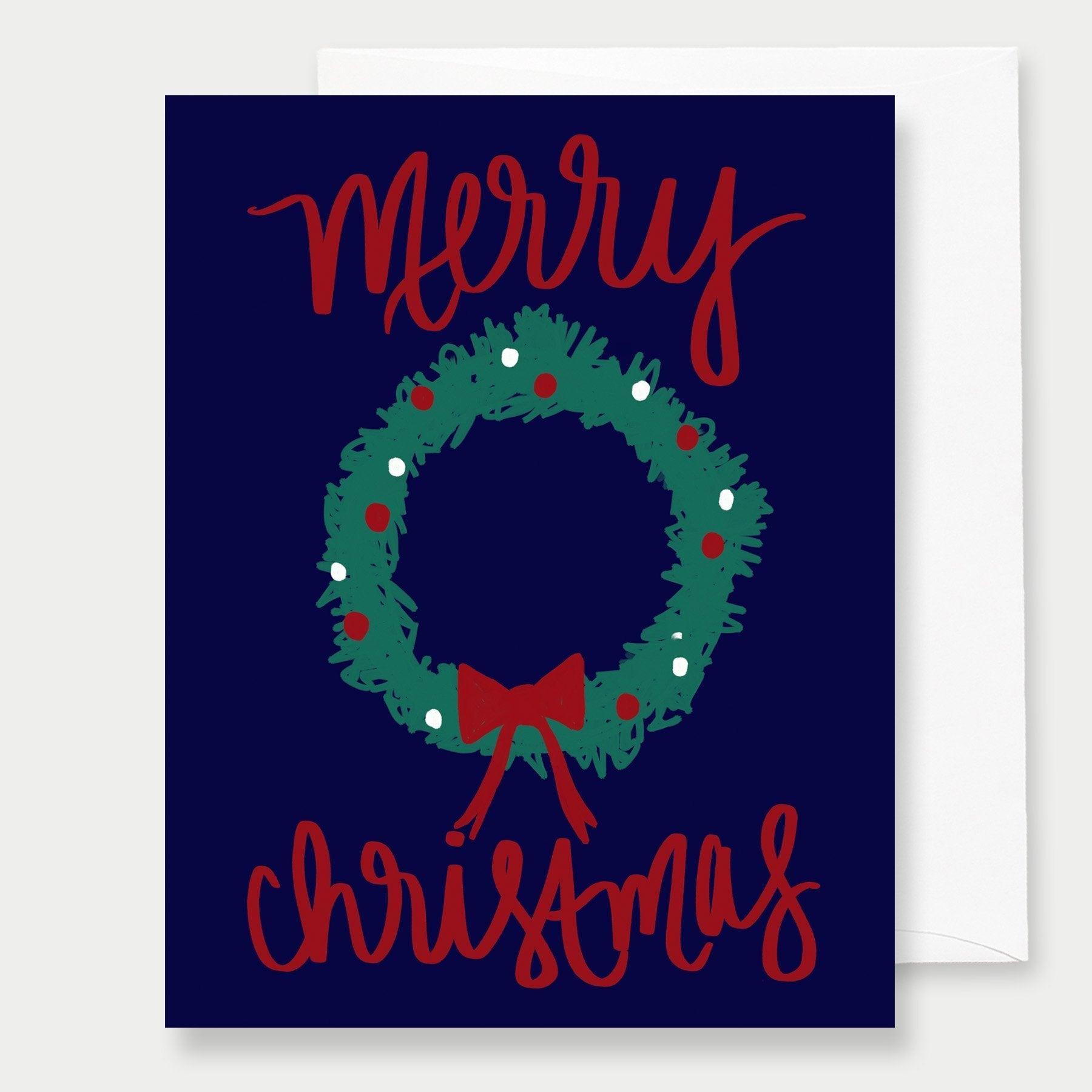Holiday Wreath Greeting Card