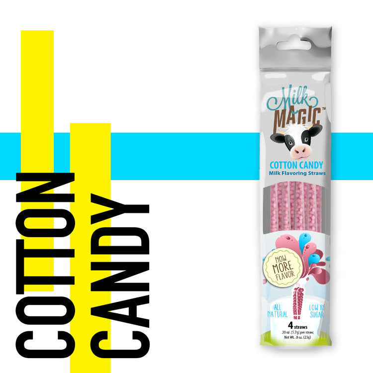 Milk Magic Straws - Cotton Candy