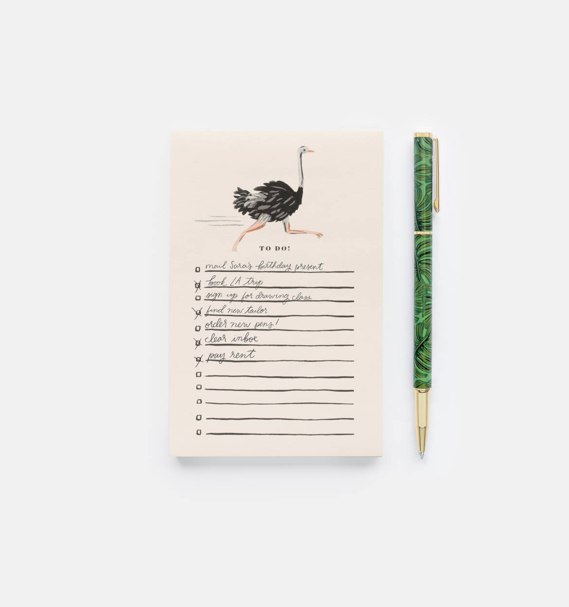 Monstera Writing Pen (with black ink)