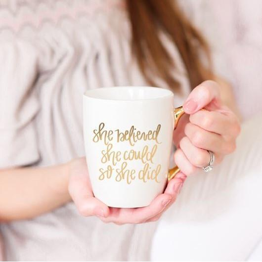She Believed Coffee Mug