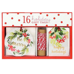 Holiday Wreath Gift Tag Set
