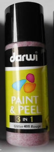 Darwi 3 in 1 Paint and Peel 80 ml Glitter Rouge 400