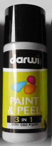 Darwi 3 in 1 Paint and Peel 80 ml Glitter Silver 080