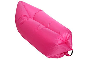 Lazy Lounger Inflatable Air Bed Sack for Beach, Camping, Garden, Home, Festivals (Pink)