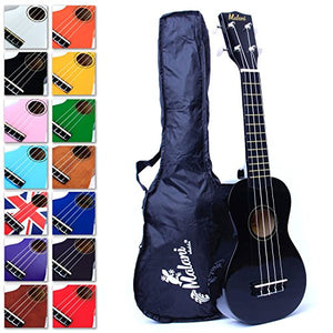 Best Black Soprano Ukulele with Bag, Great Fun for Adult Beginners and Children