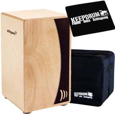 SCHLAGWERK CP 550 CAJON AGILE BASE NATURAL WITH Keepdrum Bag and Padded Seat
