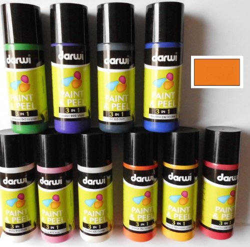 Darwi 3 in 1 Paint and Peel 80 ml Orange