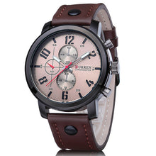 Men Casual Leather strap Business Wristwatch