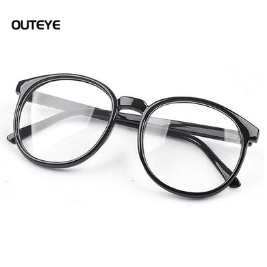 Women Vintage Glasses Frame Plain Mirror Round Optical Frame