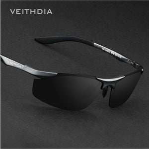 Rimless Mens Aluminium Sunglasses Polarised