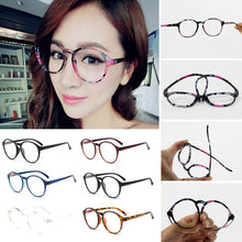 Unisex Frame Eyeglasses With Clear Glass Men Women Vintage Round Clear