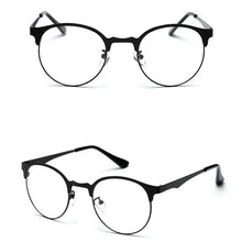 Unisex Vintage Spectacles Clear Metal