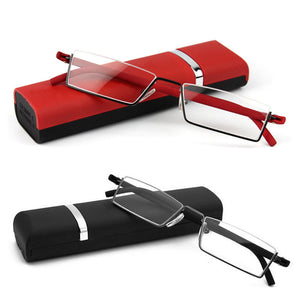Unisex Light Reading Glasses 1.0 To 4.0 Red/Black TR90 Eyes Care Healthy