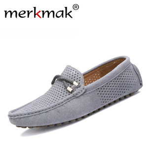 Summer genuine leather men shoes casual moccassin