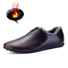 Genuine Leather Men Shoes High Quality Men Casual Shoes Fur Inner