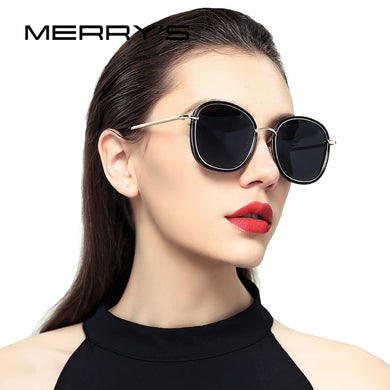Women Polarized Sunglasses Fashion Metal Temple 100% UV Protection