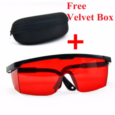 1 Set Red Blue Goggles Laser Safety Glasses With Velvet Box