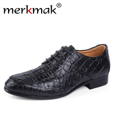 Genuine Leather Oxford Shoes For Business Men Crocodile Shoes