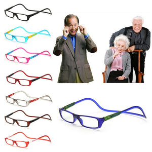 Magnet Reading Glasses Adjustable Hanging Neck Presbyopic Glasses Unisex