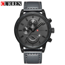 CURREN Men's Leather Strap Casual Wrist Watch