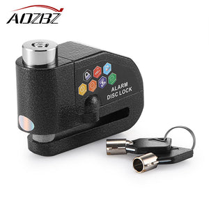 Aozbz Motorcycle Motorbike Alarm Lock Bicycle Pit Bike Scooter Anti-theft