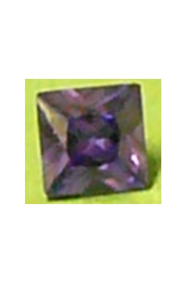 Amethyst-Color Cubic Zirconia Square 10mm