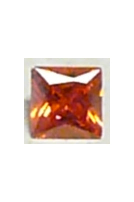Orange Cubic Zirconia Square 10mm