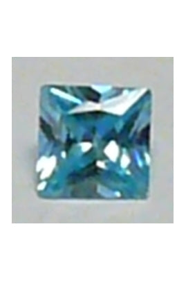 Turquoise Blue Cubic Zirconia Square 10mm