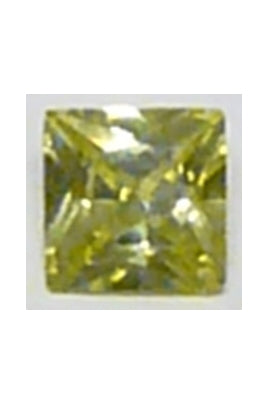 Apple-Green Cubic Zirconia Square 10mm