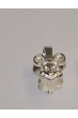 11.5mmx12mm Mickey Mouse Silver Pendant Bail