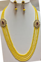 5-Strand Mango-Color Quartz Necklace Set