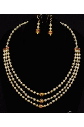 3-string Pearl Necklace Set #PN-1