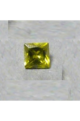 Olivine Cubic Zirconia Square 3mm