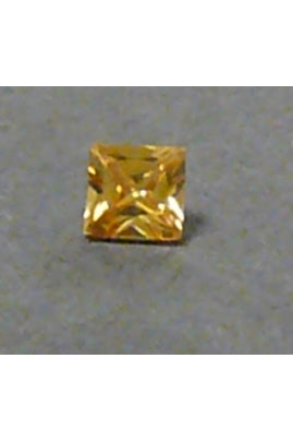 Champaigne-Color Cubic Zirconia Square 4.5mm