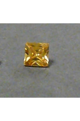 Champaigne-Color Cubic Zirconia Square 4mm
