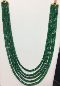 Israeli-Cut Emerald 5-Strand on Sarafa
