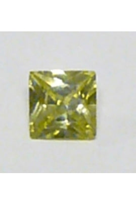 Apple-Green Cubic Zirconia Square 5mm